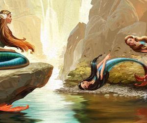 mermaids and swim image