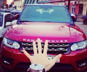 range rover, car, and red image