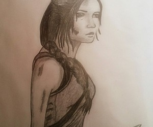draw, drawing, and katnis everdeen image