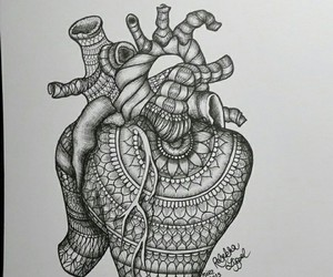 art, doodle, and heart image