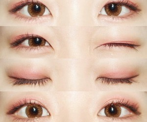 makeup, ulzzang, and eyes image