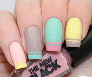 nails, pink, and colors image