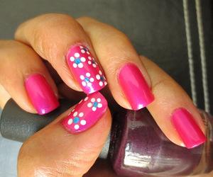 nails, pink, and rosa image