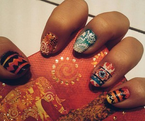 beuty, indian, and manicure image