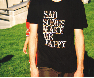 happy, sad, and songs image