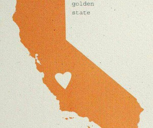 california, golden state, and heart image