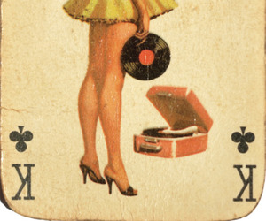 vintage, card, and Pin Up image