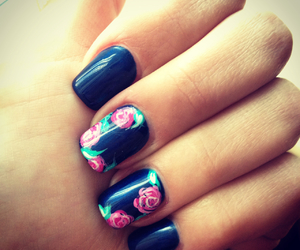 flowers, spring, and nailsart image