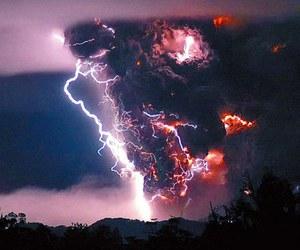 lightning, sky, and storm image