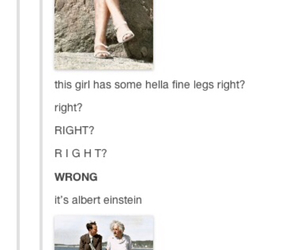 funny, tumblr, and Albert Einstein image