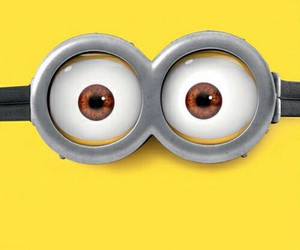 background, banana, and minions image