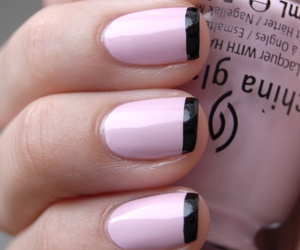 black, french, and nails image