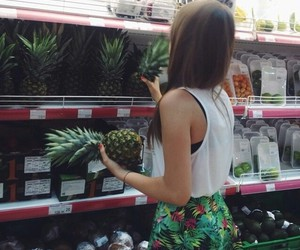 girl, pineapple, and shop image