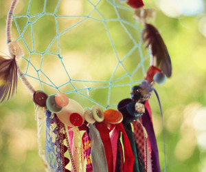 beads, chains, and dreamcatcher image