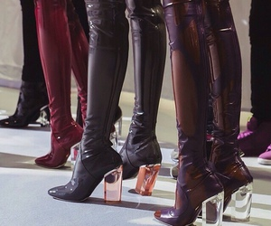 leather, runway, and shoes image
