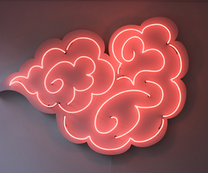 neon, light, and red image
