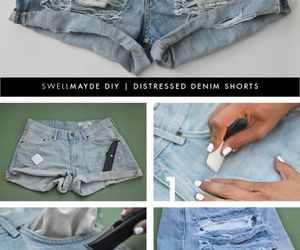 diy, shorts, and tutorial image