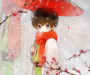 anime, blue eyes, and child image