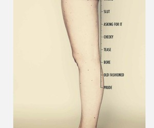 woman, feminism, and skirt image