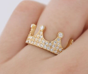 ring, crown, and hand image