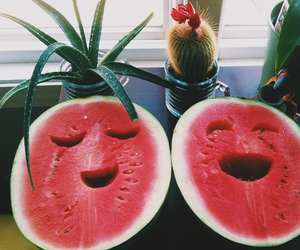 faces, yummy, and fruit image