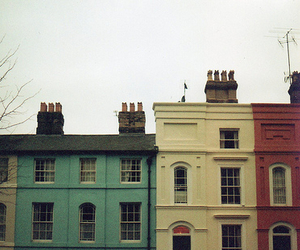 building, house, and colors image