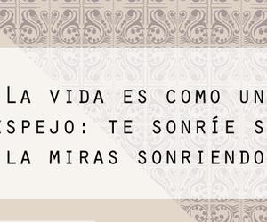 espejo, sonrisa, and frases español image