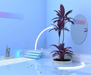 blue, aesthetic, and plants image