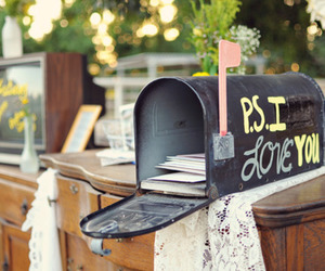 love, ps i love you, and letters image