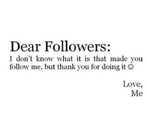 followers, follow, and quote image