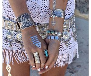 fashion, rings, and boho image