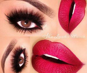 beauty, eye shadow, and lips image