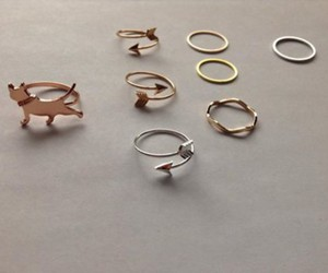fashion, rings, and tumblr image