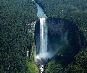 south america and angel falls image