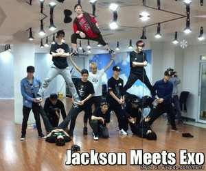 exo, got7, and funny image