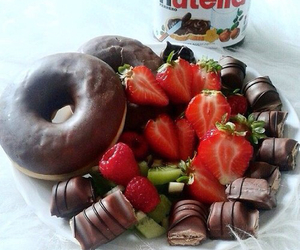chocolate, nutella, and donuts image