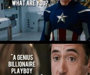 captain america, funny, and iron man image