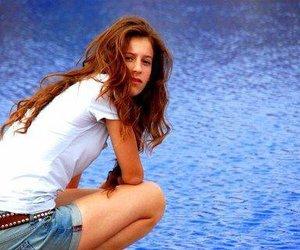 beautiful, girl, and jean shorts image