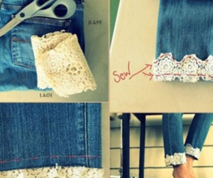 cuffs, diy, and lace image