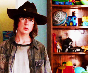 carl grimes and chandler riggs image