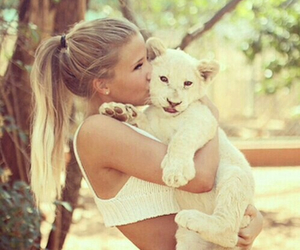 girl, animal, and cute image
