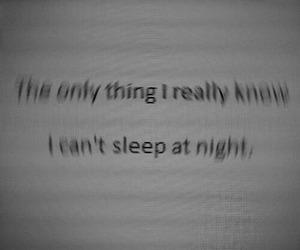 night, sad, and sleep image