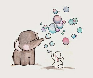 bubbles, elephant, and draw image