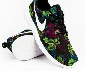 floral, nike, and running shoes image