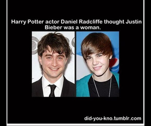 harry potter, funny, and justin bieber image