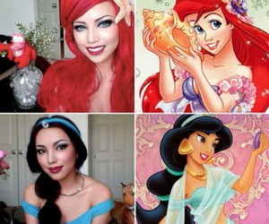disney, princess, and makeup image
