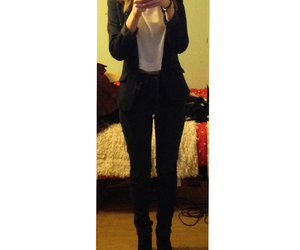 black jeans, jeans, and blazer image