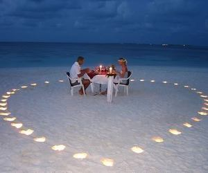 love, beach, and romantic image