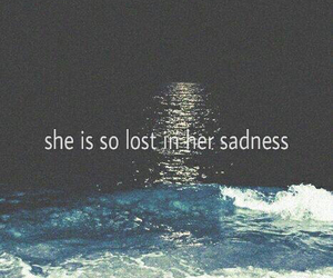 alone, lost, and ocean image