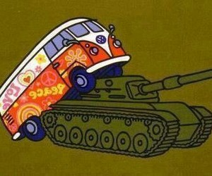 peace, love, and war image